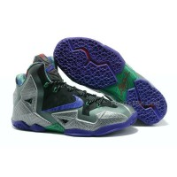 "Nike LeBron 11 ""Terracotta Warrior"" Mine Grey/Electro Purple-Mercury Grey-Newsprint"