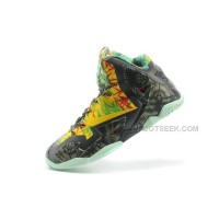"Shop Nike LeBron 11 ""Kings Ring"" Black-Yellow/Red Maple Online"