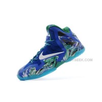 Nike Lebron 11 Printing Royal Blue/Green New For Sale