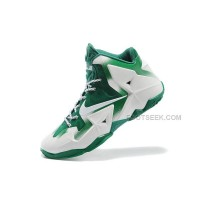 "Nike LeBron 11 ""Michigan State"" PE White Green Online For Sale"