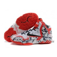 Top Deals Nike LeBron James 11 White-Red/Navy Blue
