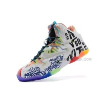 "2014 Nike LeBron 11 ""What The LeBron"" Black Lava/Silver Ice-Galaxy Blue Cheap For Sale Online"