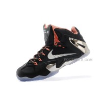 New Nike LeBron 11 Elite Black Silver Orange For Sale Cheap