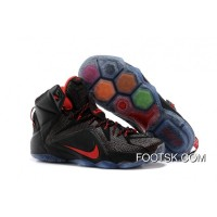 Nike LeBron 12 Black/Red Cheap To Buy