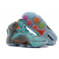 "Nike LeBron 12 ""Miami Dolphins"" Turquoise/Grey-Crimson-Black For Sale"