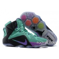 Nike LeBron 12 Teal/Court Purple-Black New Release