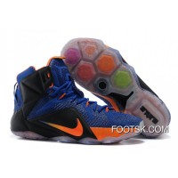 Free Shipping Nike LeBron 12 Hyper Blue/Black-Orange