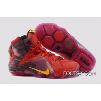 "2014 ""China"" Nike LeBron 12 Red Purple Yellow Copuon Code XrNrGm"