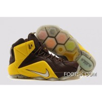 2014 '6iven Home' Nike LeBron 12 Dark Crimson/University Gold For Sale SFn8D