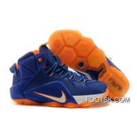 2014 'Hardwood Classics' Nike LeBron 12 Varsity Royal/Team Orange-White Authentic EGczfJ