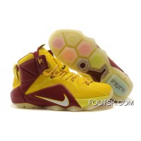 2014 Nike LeBron 12 University Gold/Light Crimson Copuon Code XwzNz2y