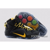 2015 Black Yellow Nike LeBron 12 Top Deals FjXpw
