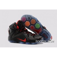 2015 Nike LeBron 12 Black Red Cheap To Buy 4pfBf3