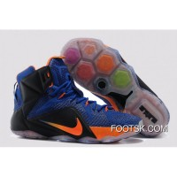 2015 Nike LeBron 12 Hyper Blue/Black-Orange Super Deals T2MHF