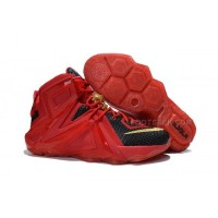 Lebron 12 Elite Red Black Nike Zoom Lebron 12 Elite Red Black Original Basketball Shoes