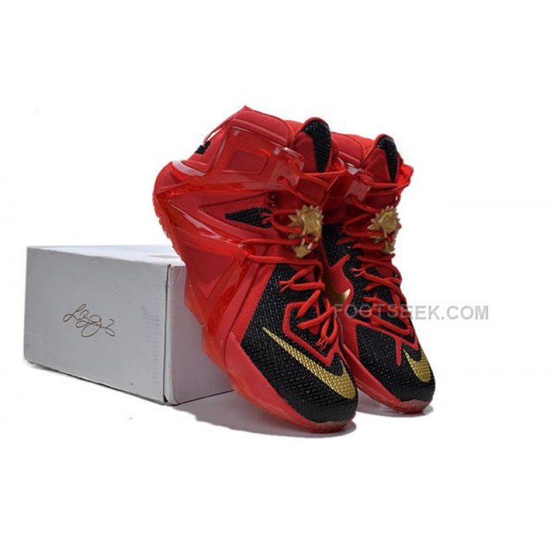 0e82e08ebf7ca ... Lebron 12 Elite Red Black Nike Zoom Lebron 12 Elite Red Black Original  Basketball Shoes ...