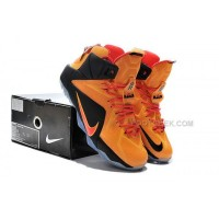 Lebron 12 Orange Red Black Nike Zoom Lebron 12  Orange Red Black Original Shoes