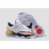 2016 Nike LeBron 13 Low 'Olympic Gold Medal' Authentic YQZC5