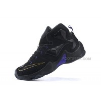 Hot Women LeBron James 13 Shoes Dark Black Blue And Gold