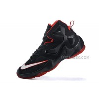 Online Women Nike LeBron 13 Basketballl Shoes Black Red For Sale
