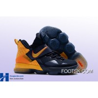 """""""Cavs Alternate"""" Nike LeBron 14 PE Navy/Yellow Super Deals NmBRb"""
