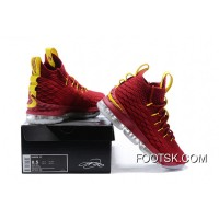 1808# 15 Nike Lebron 15 Red Yellow Free Shipping