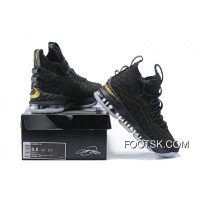 1808# 15 Nike Lebron 15 Black For Sale