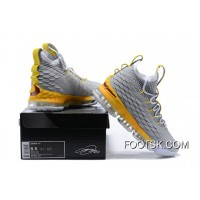 1808# 15 Nike Lebron 15 Grey Orange New Style