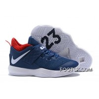 "Free Shipping Nike LeBron Ambassador 10 ""USA"" Navy/White-University Red"