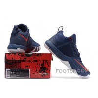 Nike Lebron Ambassador 9 Navy Blue Red Cheap To Buy