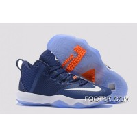 Nike LeBron Ambassador 9 Navy Blue White Orange New Release Irf234
