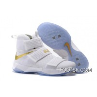 """2016 """"Christmas Day"""" Nike LeBron Soldier 10 White And Gold For Sale Me4sAR3"""