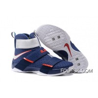 'USA' Nike LeBron Soldier 10 Obsidian/White-University Red Cheap To Buy WJTyD