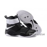 Nike Zoom LeBron Soldier 10 Black/White-Metallic Silver Best HY6byWH