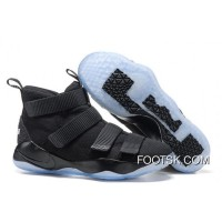 "Nike LeBron Soldier 11 ""Prototype"" Black/Black-Ice Blue Top Deals"