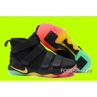 Nike LeBron Soldier 11 Black/Gold Muti-Color Sale Cheap To Buy MMYyXt