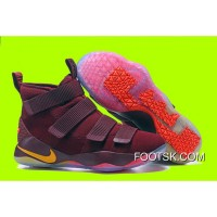 "Cheap Nike LeBron Soldier 11 ""Cavs"" PE Red Yellow Sale Best HiSh78"
