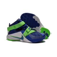 Nike LeBron Zoom Soldier 9 Sprite Game Royal Blue Green Streak For Sale Online