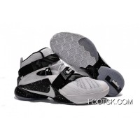 New Release Nike LeBron Soldier 9 White Black Basketball Shoe
