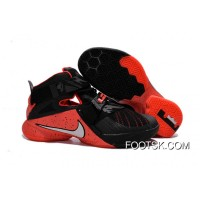 Nike LeBron Soldier 9 Black Red Basketball Shoe Top Deals
