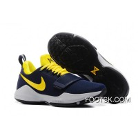 """""""Pacers"""" Nike PG 1 PE Obsidian/Yellow-Hyper Violet Online MQPzy4"""