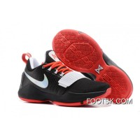 Nike PG 1 Black White Red Men's Basketball Shoes Cheap To Buy 4ASAsC