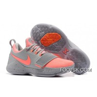 Nike PG 1 Gray Peach Red Men's Basketball Shoes New Style ShF4F