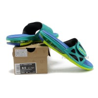 Air Lebron 10 X Slide Sandals Turquoise Blue Green Hot