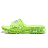 Cheap Nike Air Max 2015 Sandals Volt Green Silver For Sale Online