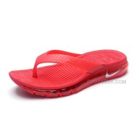 Free Shipping Girls Nike Air Max 2015 Slide Sandals Flip Flops Slipper Red