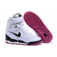 Nike Wmns Wedges Air Revolution Sky Hi Shoes White Black Hyper Pink Cheap