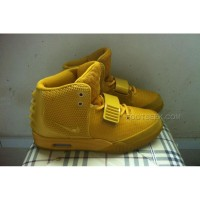 New Arrival Nike Air Yeezy 2 Holy Grail Custom Wheat Gold Yellow Gold