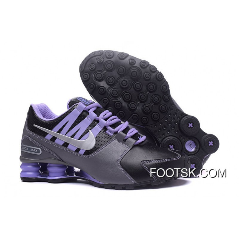 Womens Nike Shox Avenue Shoes BlackPurple New Style