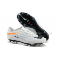 Hypervenom Phantom Fg Boots White Black Orange